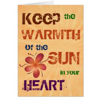 Wärme des Sun-jedes Anlasses Grußkarte