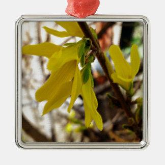 warme Frühlingsfarben Silbernes Ornament
