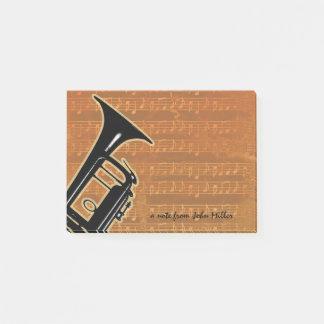 Warme Ton-Trompete Post-it Klebezettel