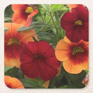 Wärme von The Sun mit Blumen Rechteckiger Pappuntersetzer