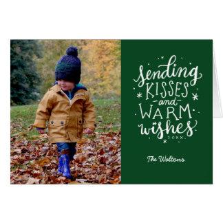 Wärmen Sie Wunsch-Feiertags-Foto-Karte Grußkarte