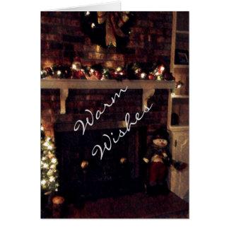 Wärmen Sie Wunschfeiertagskarte Grußkarte