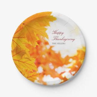 Warmer Herbst-glücklicher Erntedank Pappteller