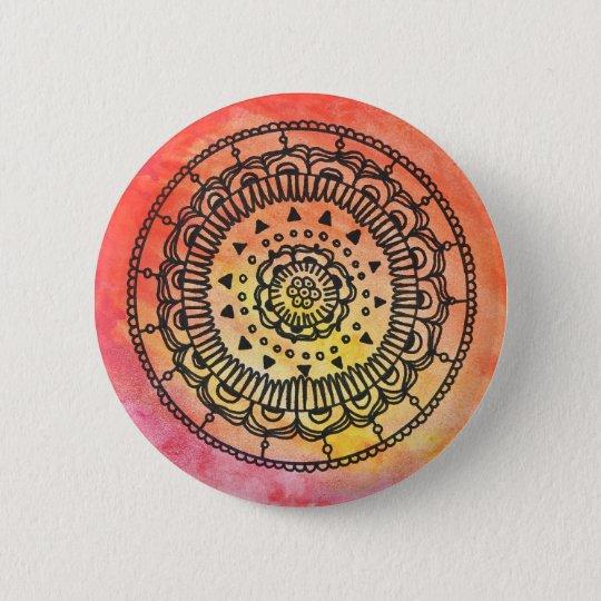 Warmer Mandala-Knopf durch Megaflora Runder Button 5,7 Cm