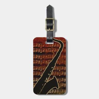 Warmes Ton-Saxophon ID280 Gepäckanhänger