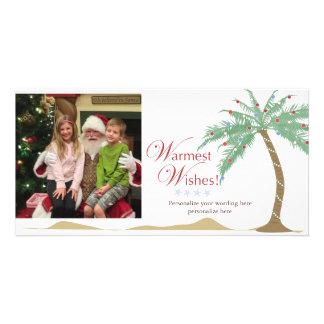 Wärmste Feiertags-Wünsche, Weihnachtsstrand-Palme Karte