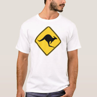 warnende Gefahr des Kängurus an Australien-Tag T-Shirt