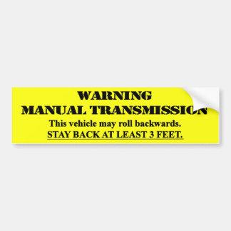 Warnendes Handsenden - bleiben Sie zurück 3 Fuß Autoaufkleber