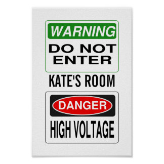 Warnendes Plakat - fertigen Sie besonders an!