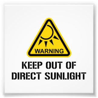 WARNING - behalten Sie aus direktem Sonnenlicht Fotografie