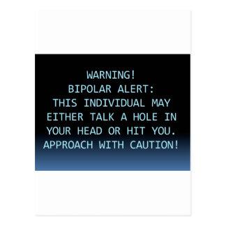 WARNING-BIPOLAR ALARM POSTKARTE