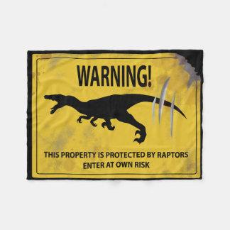 Warnung! Dieses Eigentum wird durch Raubvögel Fleecedecke
