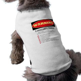 Warnung: Konservativer Denker T-Shirt