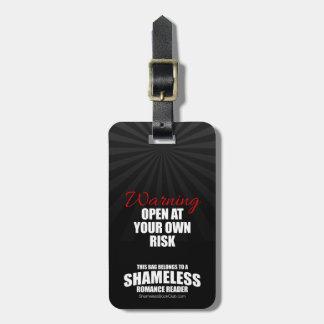 Warnung: Öffnen Sie auf eigene Gefahr schamloses Kofferanhänger