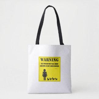 Warnung! Tasche