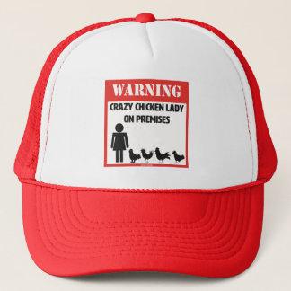 Warnung: Verrückte Huhn-Dame Trucker Hat Truckerkappe