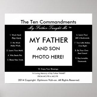 WarriorsCreed zehn Gebote mein Vater unterrichtete Poster
