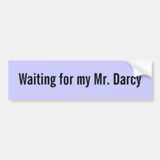 Wartete meinen Herrn besonders angefertigtes Darcy Autoaufkleber