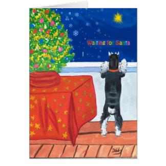 Wartete Sankt-Weihnachtskarte Grußkarte
