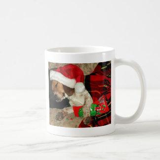 Wartete Sankt - WeihnachtsSnoopy Beagle-Hund Tasse
