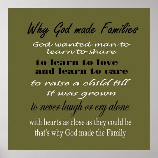 Warum Gott Familien Druck ummauern ließ Poster
