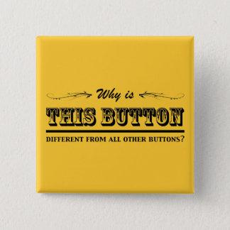 Warum ist dieser Knopf? Quadratischer Button 5,1 Cm