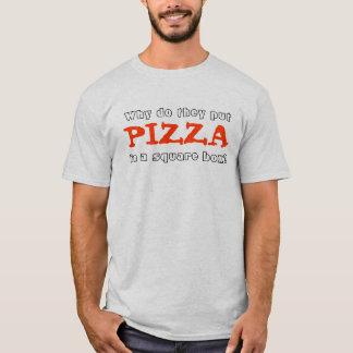 Warum tun Sie, setzen sie Pizza in einen T-Shirt