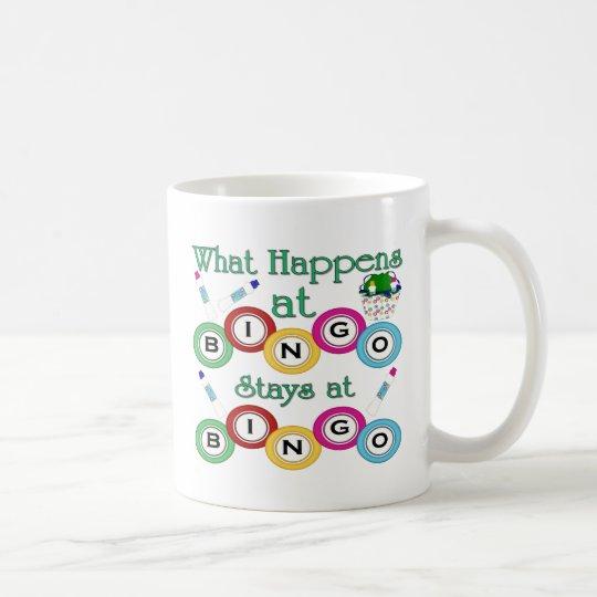 Was am Bingo geschieht Kaffeetasse
