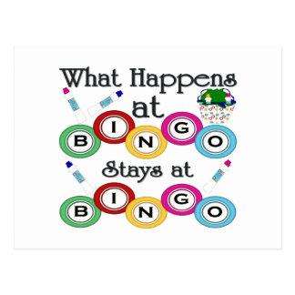 Was am Bingo geschieht Postkarte