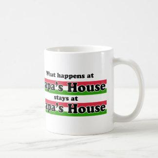 Was am Papa-Haus geschieht Kaffeetasse