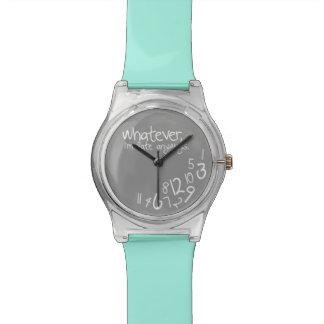 Was auch immer, ich irgendwie spät sind - armbanduhr