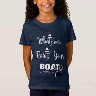 Was auch immer Ihren Boots-lustigen Text-Slogan T-Shirt