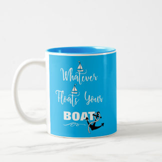 Was auch immer Ihren Boots-lustigen Text-Slogan Zweifarbige Tasse