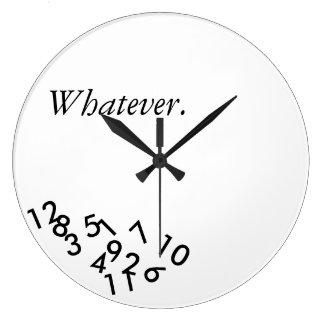 Was auch immer. Uhr
