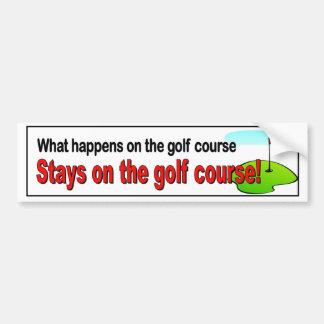 Was auf den Golfplatzaufenthalten auf dem Golf Autoaufkleber