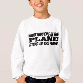 Was im Flugzeug geschieht Sweatshirt