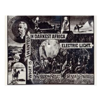 Was in dunkelstem Afrika gewollt wird, ist Postkarte