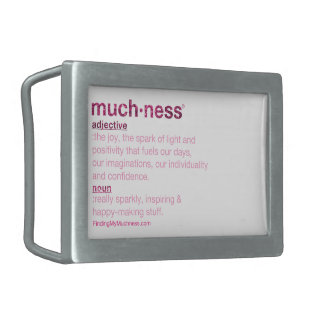 Was ist die Definition von Muchness? Rechteckige Gürtelschnallen