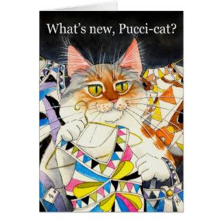 Was ist neue Pucci-Katze? Grußkarte