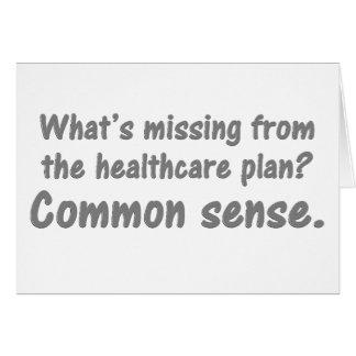 Was ist vom Gesundheitswesenplan vermisst? Grußkarte