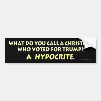 Was nennen Sie ein christliches, wer für Trumpf Autoaufkleber