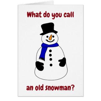 """WAS SIE EINEN """"ALTER SNOWMAN"""" CHRISTAMS SPASS KARTE"""