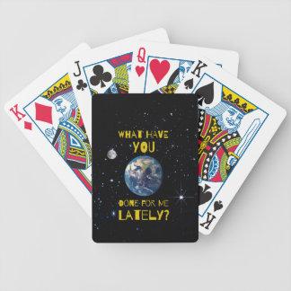 Was Sie kürzlich getan für Erde haben Bicycle Spielkarten