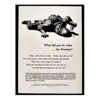 Was taten Sie heute für Freiheit? Postkarte