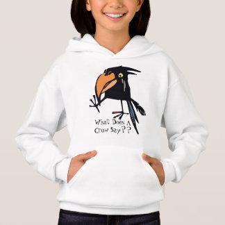 Was tut eine Krähe sagen? Hoodie für Kinder