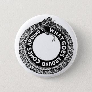 Was umhergeht runder button 5,1 cm