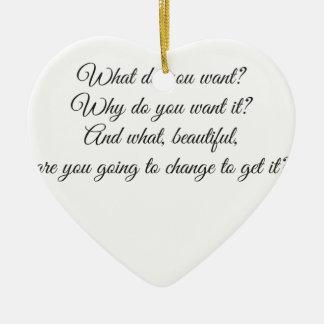 Was wollen Sie? Keramik Ornament
