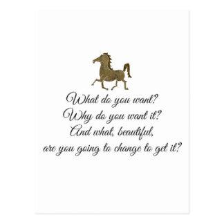 Was wollen Sie Unicorn? Postkarte