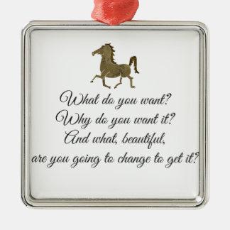 Was wollen Sie Unicorn? Silbernes Ornament