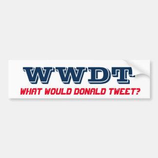 Was würde Donald tweeten? (Autoaufkleber) Autoaufkleber